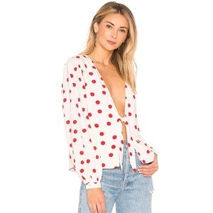 Lovers and friends Theo tie blouse